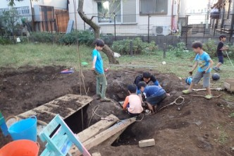 穴を掘ったら